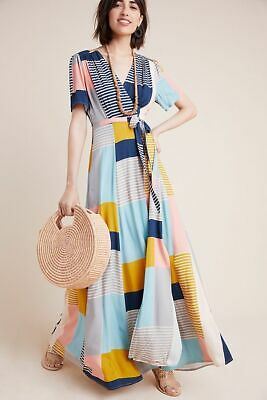 7b3bece170a Anthropologie Positano Maxi Wrap Dress By The Odell Size XS  288 NWT
