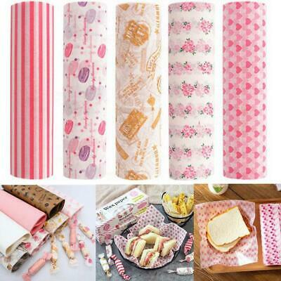 50 pcs/box of wax paper food greaseproof paper bread sandwich nougat packaging