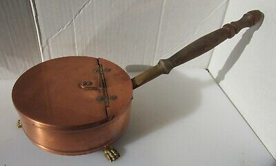Great Copper and Brass Pan with Timber Handle