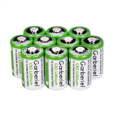 10PCS Lithium Batteries 750mAh 3V CR2(DLCR2,ELCR2) Camera Toys Expiration 2029 A
