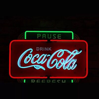 Neon Light Sign Coa Drinking Bar Wall Decor  Cola Vintage Beer
