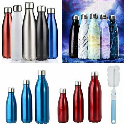 Stainless Steel 350-1000ML Water Bottle Flask Double Wall Vacuum Insulated Drink