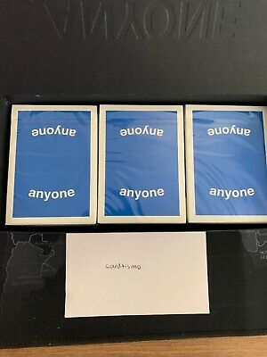 Anyone Worldwide Blue Logo Playing Cards One Deck New Sealed