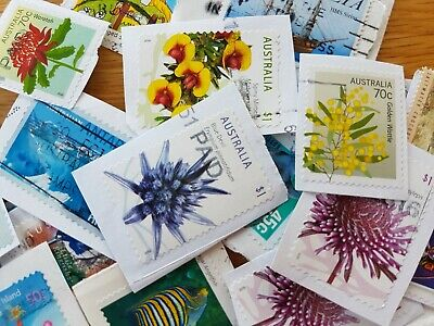 1550 Australian used stamps bulk high value 50c-$1 and OVER ONLY ! kiloware