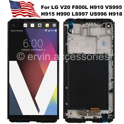 OEM For LG V20 H990 LS997 US996 Display Touch Screen Digitizer Replacement Frame