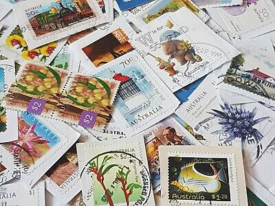 2000 Australian used High Value stamps bulk 50c-$1 and OVER $1 Kiloware !