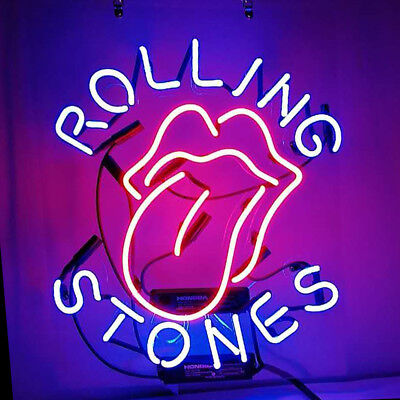Neon Light Rolling Stones Beer Store Homeroom Decor  Sign Gift Bar Pub Party
