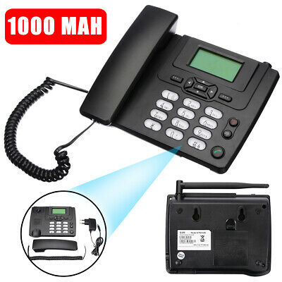 FIXED WIRELESS GSM Desk Mobile Phone SIM Card Desktop Telephone Home