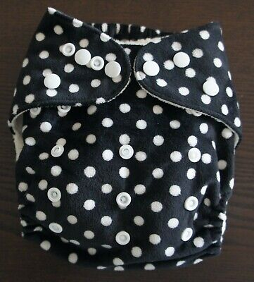 Reusable Supersoft minky & Bamboo Baby Cloth Nappy - Polka Dot