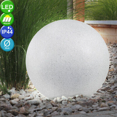 LED Stone Look Solar Lamp Exterior Spike Ball Lighting Porch Decoration
