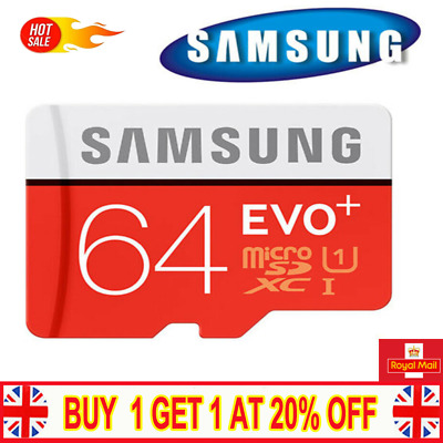 Samsung Memory 64GB EVO+ Plus Class 10 Micro SD card with Adapter  C