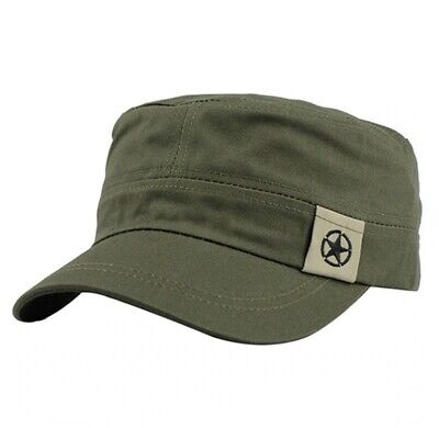 New Fashion Cotton Military Hats For Men Women Adjustable Flat Cadet Patrol Caps