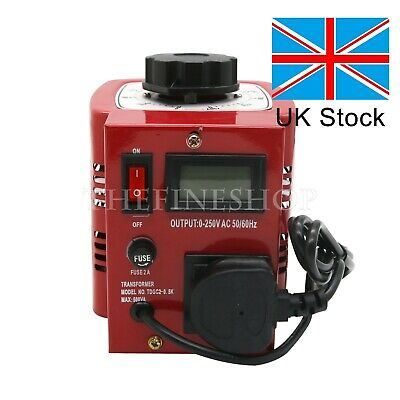 Variac Variable Transformer Voltage Regulator Powerstat 500W 0-250V Output #UK