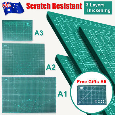 A1 A2 A3 Non-slip Thick Self Healing Cutting Mat Double-Side Board DIY +Gift A5