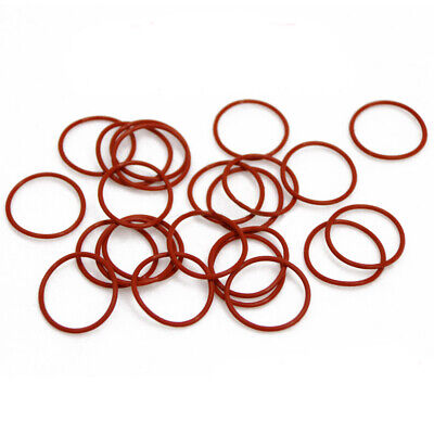 1.5mm Cross Section Food Grade Silicone Rubber O-Rings Seal Washer ID 2-77mm Red