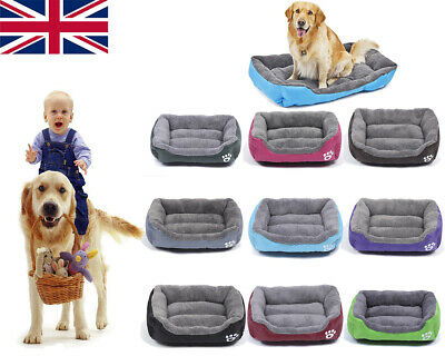 Large pet kennel dog mat cat bed washable candy color square nest soft warm mat