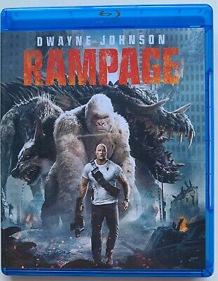 Rampage Blu Ray Dvd 2 Disc Set Free World Wide Shipping Buy It Now The Rock