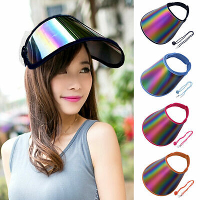 Summer PVC Hat Sun Visor Party Casual Hat Clear Plastic Adult Sunscreen Caps