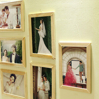"""0B87 DIY 9pcs/set 7"""" Hanging Style Picture Party Banquet Wooden Photo Frame"""
