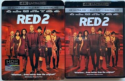 Red 2 4K Ultra Hd Blu Ray 2 Disc Set + Slipcover Sleeve Free World Wide Shipping