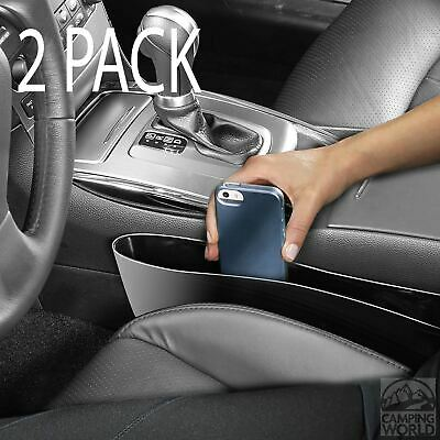 Set Of 2 Catch Caddies - Sits Between Seat & Console Stop Drops & Fits Most Cars