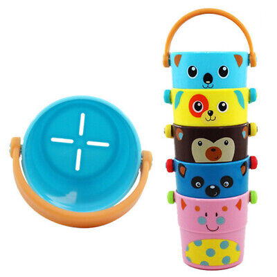 Baby Water Spraying Cute Children Flow Cup Pour Bucket Tool Kids Bath Toys