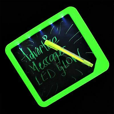 LED Fluorescent Dry Wipe Message Board Memo Notes Planner With Light Office Home