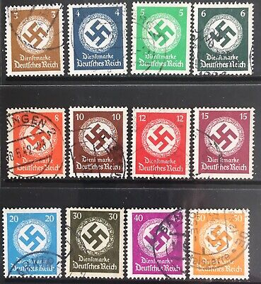 Germany Third Reich 1934 Swastikas issues Used