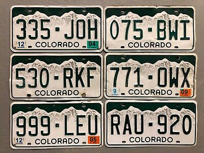 Colorado Rocky Mountains White License Plate Random Letters/Numbers Craft Grade