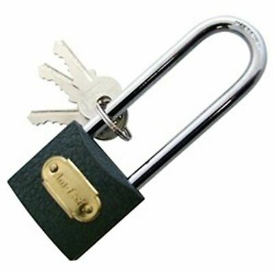 Solid Iron 38mm Strong Long Shackle Padlock Door Gate Security Lock Heavy Duty