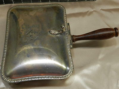 Antique PM Italy Silverplate Silent Butler w/ Wood Handle VT0133