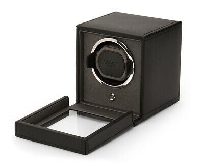 Wolf 461103 Cub Single Watch Winder with Cover Black Gray