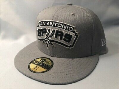 huge selection of 0497c 5ee17 SAN ANTONIO SPURS NEW ERA 59FIFTY SOLID TEAM NBA FITTED Cap Hat Size 7 1