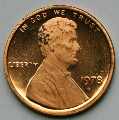 1978 S Lincoln Memorial Cent DCAM Proof Penny  US Coin Low Grade