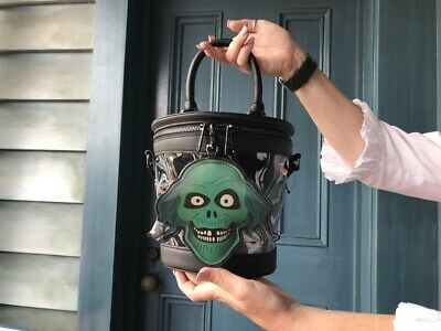 Disney Haunted Mansion  50th Anniversary Hatbox Crossbody Bag Loungefly In Hand