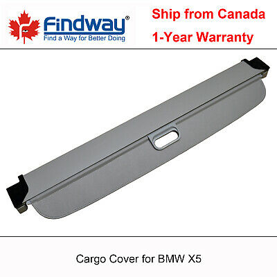 Grey Retractable Cargo Cover Anti-Theft Shield For 2007-2018 BMW X5