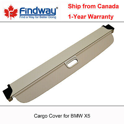 Beige Retractable Cargo Cover Anti-Theft Shield For 2007-2018 BMW X5