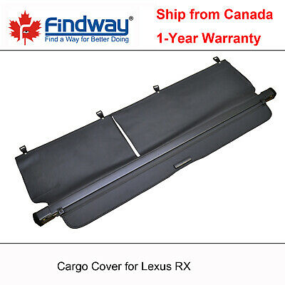 Black Cargo Cover Anti-Theft Shield For 2010, 2011, 2012 Lexus RX