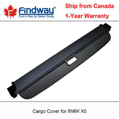 Black Retractable Cargo Cover Anti-Theft Shield For 2007-2018 BMW X5