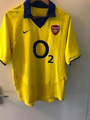best sneakers 4f79e ddb0a ARSENAL YELLOW O2 Football Shirt 2005 2006 Jersey NIKE Size ...