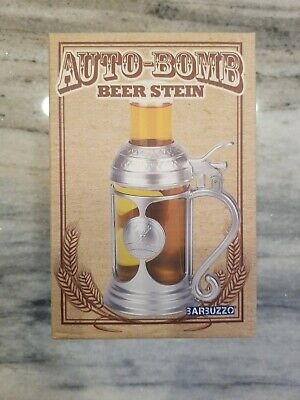 Barbuzzo Auto Bomb Beer Stein Beer & Shot Glass Set 12.6 oz - NEW