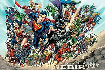 DC UNIVERSE - REBIRTH POSTER 24x36 - BATMAN SUPERMAN WONDER WOMAN 2595