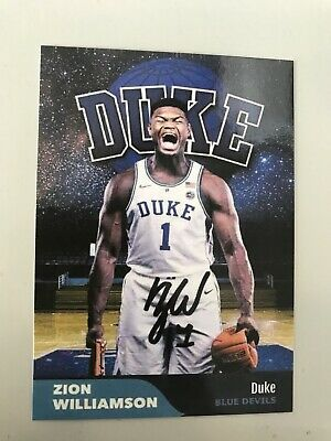 Zion Williamson Trading Card Duke Blue Devils New Oleans # 1 Pick Free Shipping