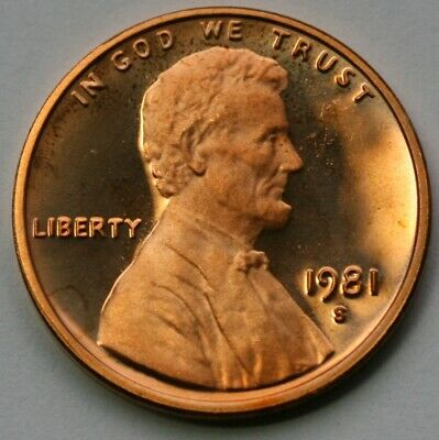 1981 S Lincoln Memorial Cent Type 1 DCAM Proof Penny  US Coin
