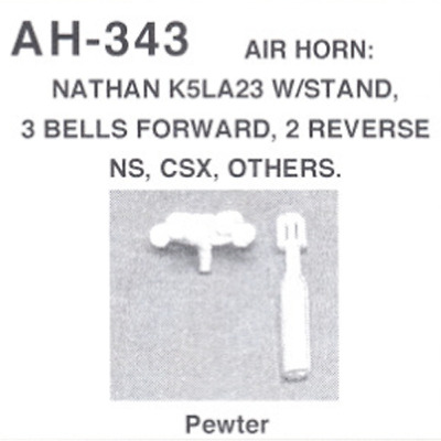 Details West 346 x HO Air Horn Nathan P3 Large Right Bell Configuration
