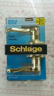 Schlage Privacy Bed And Bath Door Knob Flair Lever F40NV New