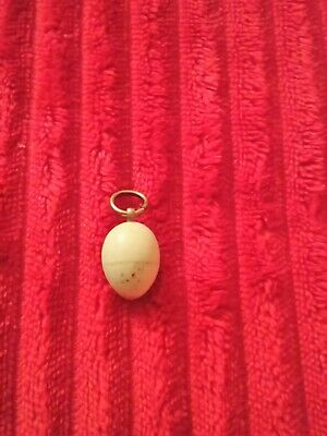 Rare Bone Antique Victorian/Edwardian Egg Pendent With Tiny Chick Inside