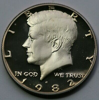 1982 S Kennedy Half Dollar Gem DCAM Proof Condition US Coin
