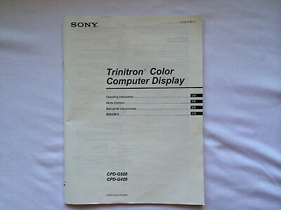 Sony CPD-G520 & CPD-G420 Operating Instructions Manual