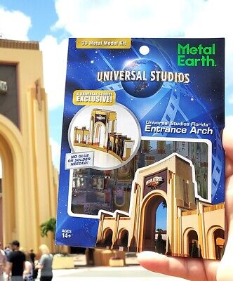 Metal Earth Universal Studios Parks Exclusive 3D Model Kit Florida Entrance Arch